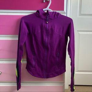 Lululemon striped purple activewear jacket
